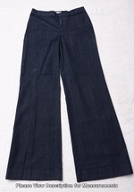 ELLEN TRACY Womens Pants Blue Jeans Linda Wide Leg 4 Dark Indigo NWT - $52.88