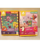 Goldie Blox Build & Craft Lucky's High Roller and Nacho's Rocket Ride~ 2... - $14.26