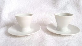 Two Rosenthal Footed Egg Cups Germany White - $18.95