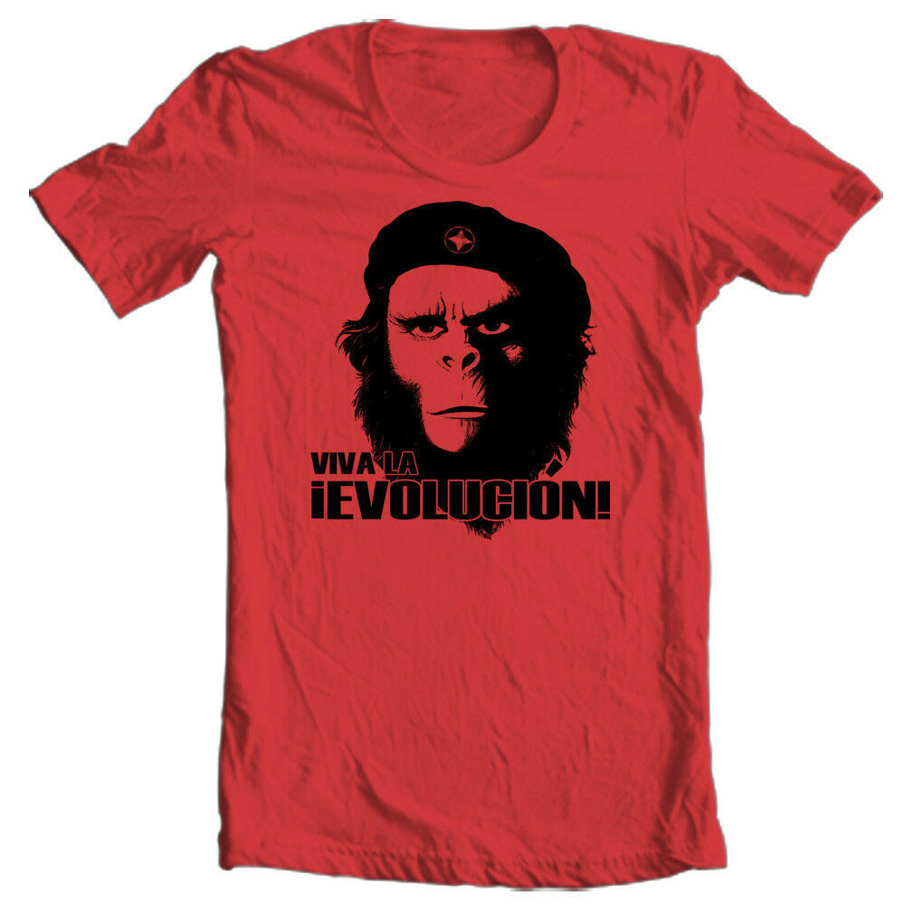 Planet of the Apes Evolution T -shirt retro vintage 70's movie Che original tee