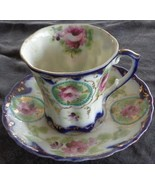 Antique Bone China Teacup and Saucer Set - Austria/Bavaria - VGC - BEAUT... - $29.69