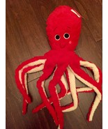 Red Octopus Squid Plush Soft Toy Dan Dee - $29.99