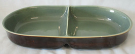 Red Wing Village Green Oval Divided Vegetable Serving Bowl - $45.43