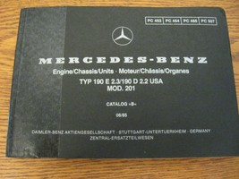 Mercedes-Benz Type W201 Parts Catalog Manual 190E 2.3 190D 2.2 1983 - 19... - $73.51