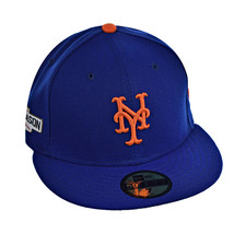 New Era New York Mets 2016 Post Season 59Fifty Men's Fitted Hat Cap Blue-Orange - £20.03 GBP