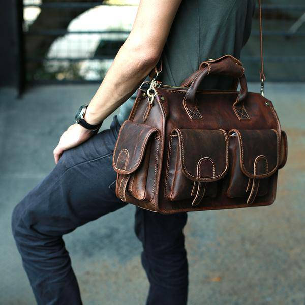 Sale, Horse Leather Messenger Bag, Handmade Briefcase, Men Tote Bag image 1