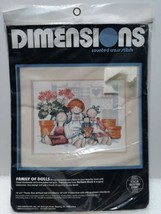 Family Of Dolls Counted Cross Stitch Dimensions 3649 14 X 11  - $16.34
