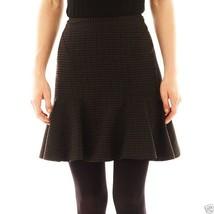 Ladies Worthington Black Cross Dye Flounce Skirt Size 10 New MSRP $38.00 - $14.99
