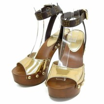 Auth Louis Vuitton canopy line monogram strap sandals 36 12 - $627.34