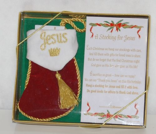 Roman Inc 92144 Small Stocking For Jesus Gift Set Box with Explanation
