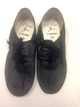 Capezio 341C Children's Size 12.5 Medium Black Lace Up Jazz Shoe - $14.99
