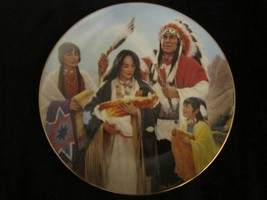 THE NAMING CEREMONY collector plate K M FREEMAN Native - $9.99