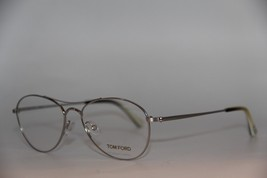 New Tom Ford Tf 5330 01B Silver Eyeglasses Authentic Rx TF5330 54-16 W/CASE - $157.32