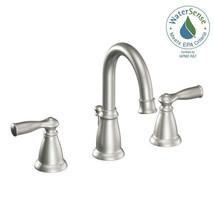 MOEN Banbury 8 in. Widespread 2-Handle High-Arc Bathroom Faucet in Spot ... - $130.89