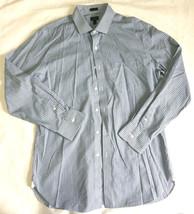 J.Crew Plaid shirt front buttons cotton Men Sz L Blue and white SLIM / NWOT - $16.82