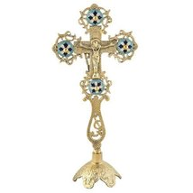 Altar Standing Cross Crucifix with Enamel (84) - $60.17