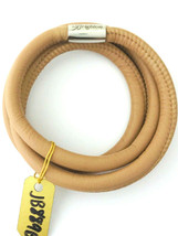 Brighton Woodstock Triple Leather Bracelet, Stone, Size S, New - $37.99