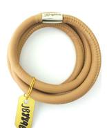 Brighton Woodstock Triple Leather Bracelet, Stone, Size S, New - $37.99
