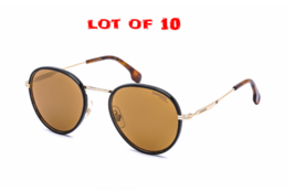 LOT OF 10 Carrera Unisex Round Metal Sunglasses CA 151/S J5G/K1 Gold Bro... - $559.35