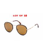 LOT OF 10 Carrera Unisex Round Metal Sunglasses CA 151/S J5G/K1 Gold Bro... - $559.35
