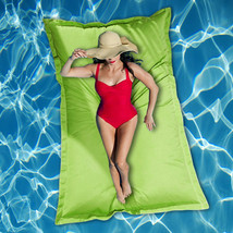 NEW! LUXE PILLOW CUSHION OVERSIZED POOL FLOAT - GIANT FLOATING WATER RAFT - $98.95