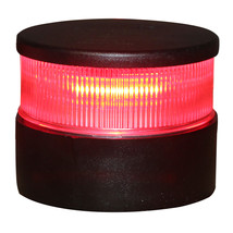 Aqua Signal Series 34 All-Round Mast Mount Light - Red LED - Black Housing [3400 - $156.74