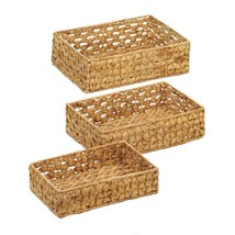 3 Piece Wicker Tray Baskets  - $32.99