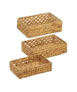 3 Piece Wicker Tray Baskets  - $32.20