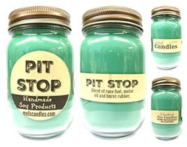 Pit Stop - 16oz Country Jar Soy Candle - Handmade in Rolla MO - Novelty ... - £14.13 GBP
