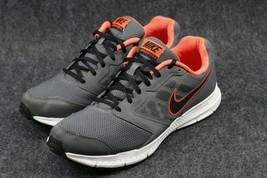 Nike Downshifter 6 Running Shoes Men's 12, Grey/Black/Orange Sneakers - $26.72