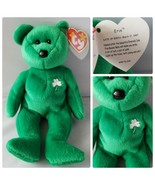 Ty Beanie Baby Erin St. Patrick's Day Green Bear Irish 5th Generation Error - $267.82