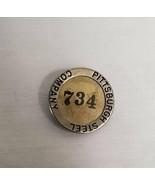 ORIGINAL Vintage WWII Era Pittsburgh Steel Company Employee ID Badge 734 - $27.93