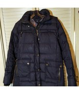 Women's Tommy Hilfiger Quilted Hooded Long Jacket Down Puffer Coat SZ M - $98.01
