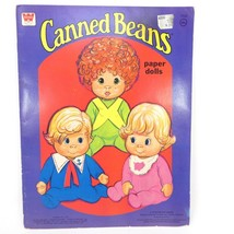 Vintage Mattel Canned Beans Paper Dolls Book 1977 Made in USA - $18.60