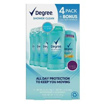 Degree Dry Protection Deodorant, Shower Clean (2.6 oz, 4 pk. + 1.6 oz. Sexy... - $15.50