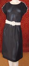 BUTTE Vintage 70s cap sleeve knee shift dress S  (T49-02G8G) - $17.80