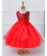 Red Sequined Short  Flower Girls Dresses Cheap Pageant Gowns For  Little... - $45.00