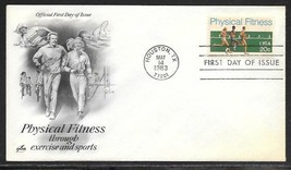 USA 1983 Sc 2043 PHYSICAL FITNESS EKG Bicycle TENNIS Swimming ArtCraft FDC - $1.99