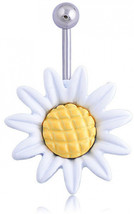 Sunflower Flower Surgical Steel Belly Button Ring Navel Piercing Body-in... - $0.87