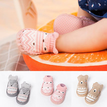 Toddler Non-Slip Boot Socks Kids Baby Cartoon Warm Shoes Anti-slip Slipper - $7.20