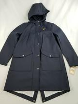 new Levi's women jacket coat hooded LW8RU669 burgundy navy sz S $98 - $54.44