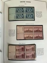 MNH 1938-1984 US Plate Block Collection Stamp Album Harris United States USA image 11