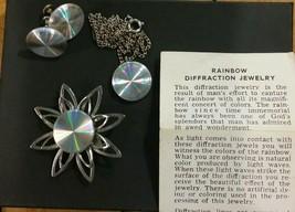 Vintage Rainbow Defraction Jewelry Set - $35.64