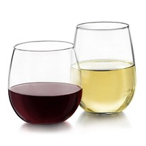 Libbey Stemless 12-Piece Wine Glass Party Set for Red and White Wines - $26.45