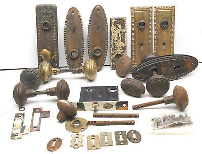 antique door knoblocks restoration hardware fancy odd parts brass metal iron