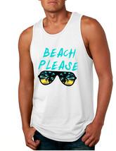Men's Tank Top Beach Please Love Summer Vacation Beachwear - $19.94+