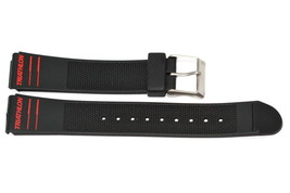 Timex 19MM Black Red Rubber Sport Diver Triathlon Watch Band Strap - $12.38