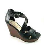 Jessica Simpson Jakayla Leather Platform High Wedge Closed Back Strappy ... - $75.60