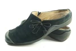 Naturalizer Slide Women's Sz 7M Black Suede Leather Slip On Shoes (tu7) - $25.19