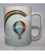 Otagiri Japan Rainbow Pride Hot Air Balloon Birds Clouds Coffee Tea Mug Cup - £18.57 GBP